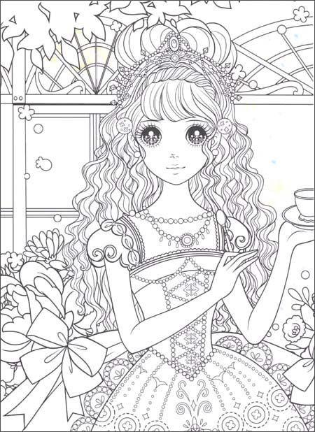 manga cartoon coloring pages - photo#18