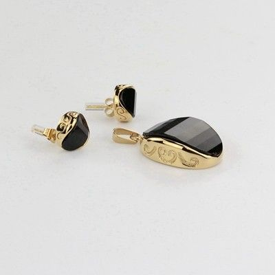 Factory sell gold pendants earrings stainless steel jewellery sets for girls, View jewellery sets, Chinabead Product Details from Beijing Daning Jewelry Co., Ltd. on Alibaba.com