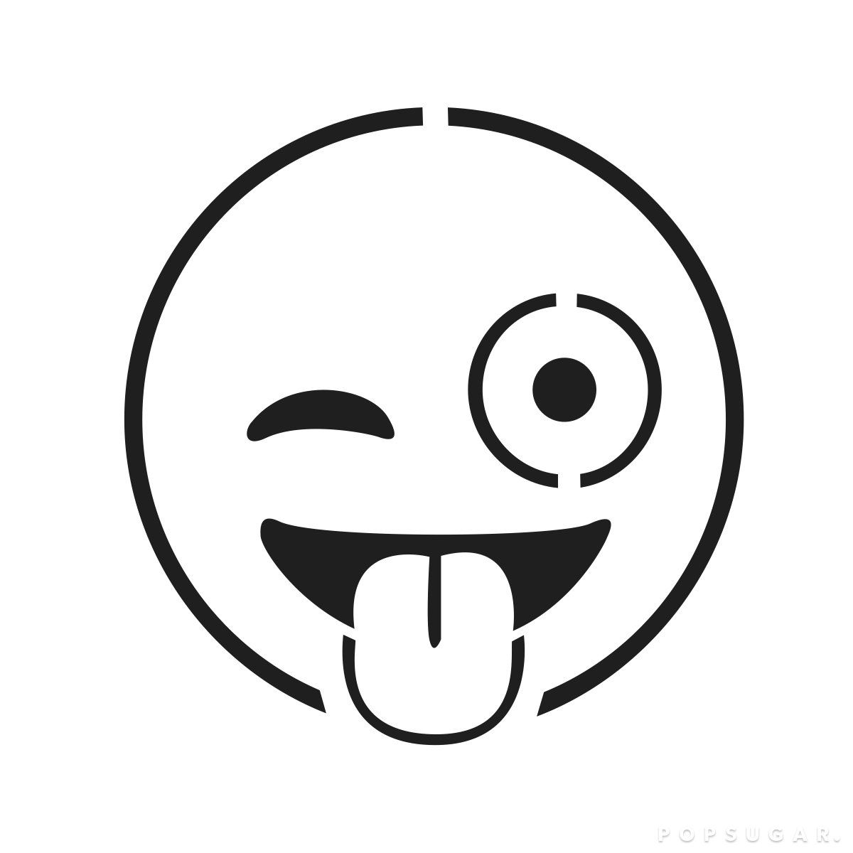Face With Stuck-Out Tongue and Winking Eye | Pumpkin template ...