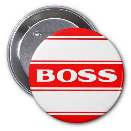 Red White Race Stripe Muscle Car Boss Button