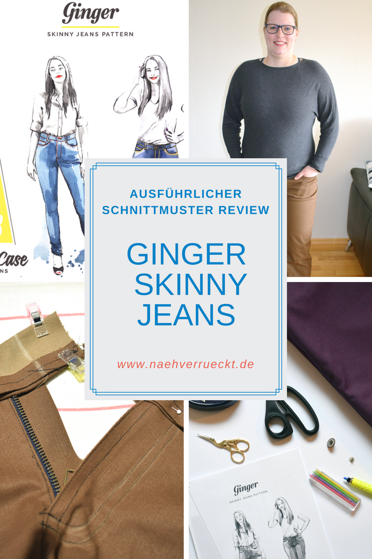 Schnittmuster Review: Ginger Skinny Jeans von Closet Case Patterns ...