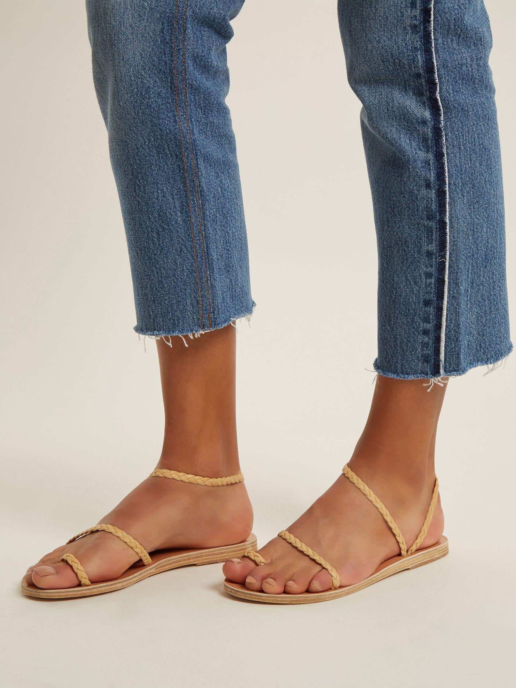 Eleftheria braided-leather sandals