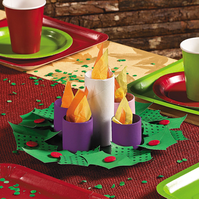 Paper Plate Advent Wreath Idea