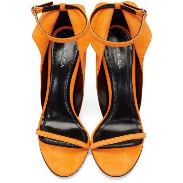 Orange Suede Carmin Sandals CALVIN KLEIN 205W39NYC af3dMCqhL