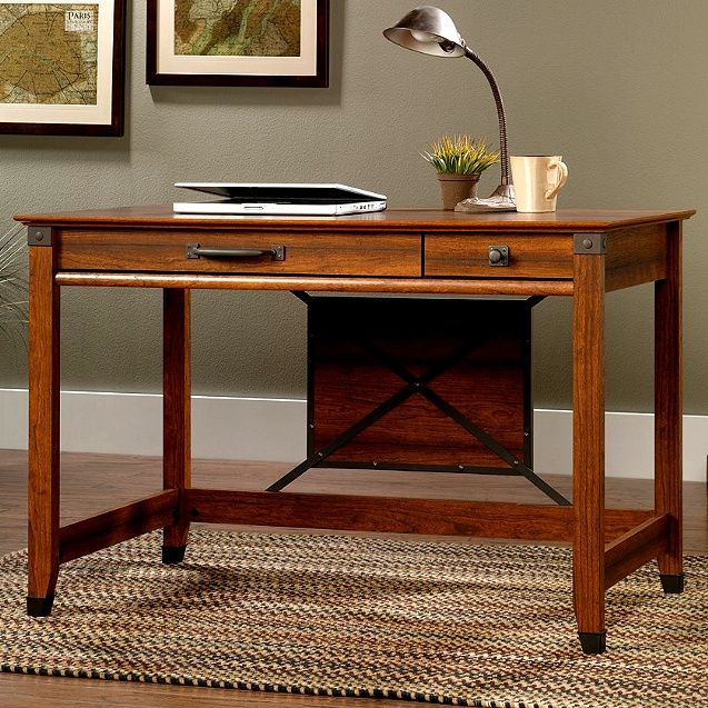 Craftsman Mission Writing Desk w/Wrought Iron Home