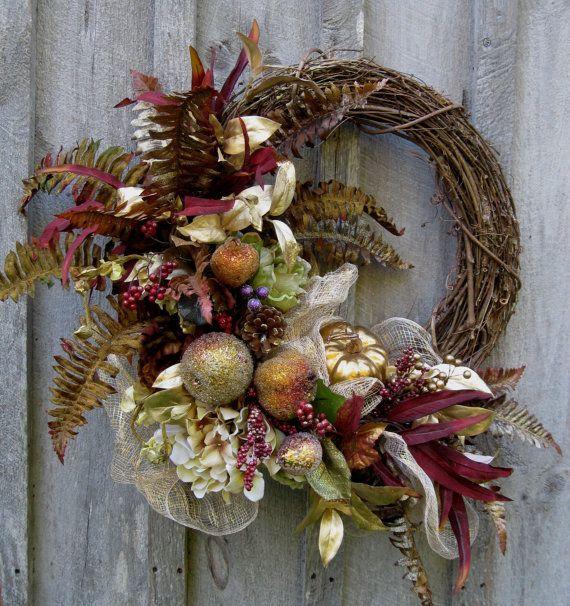Fall Wreath, Autumn Wreaths, Christmas Wreath, Thanksgiving, Harvest, Designer Wreath, Fall Floral Decor, Elegant Holiday Wreath