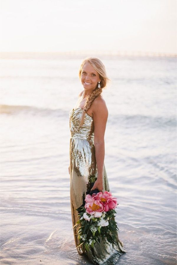 20 gold wedding dresses inspired by Jessica Simpson