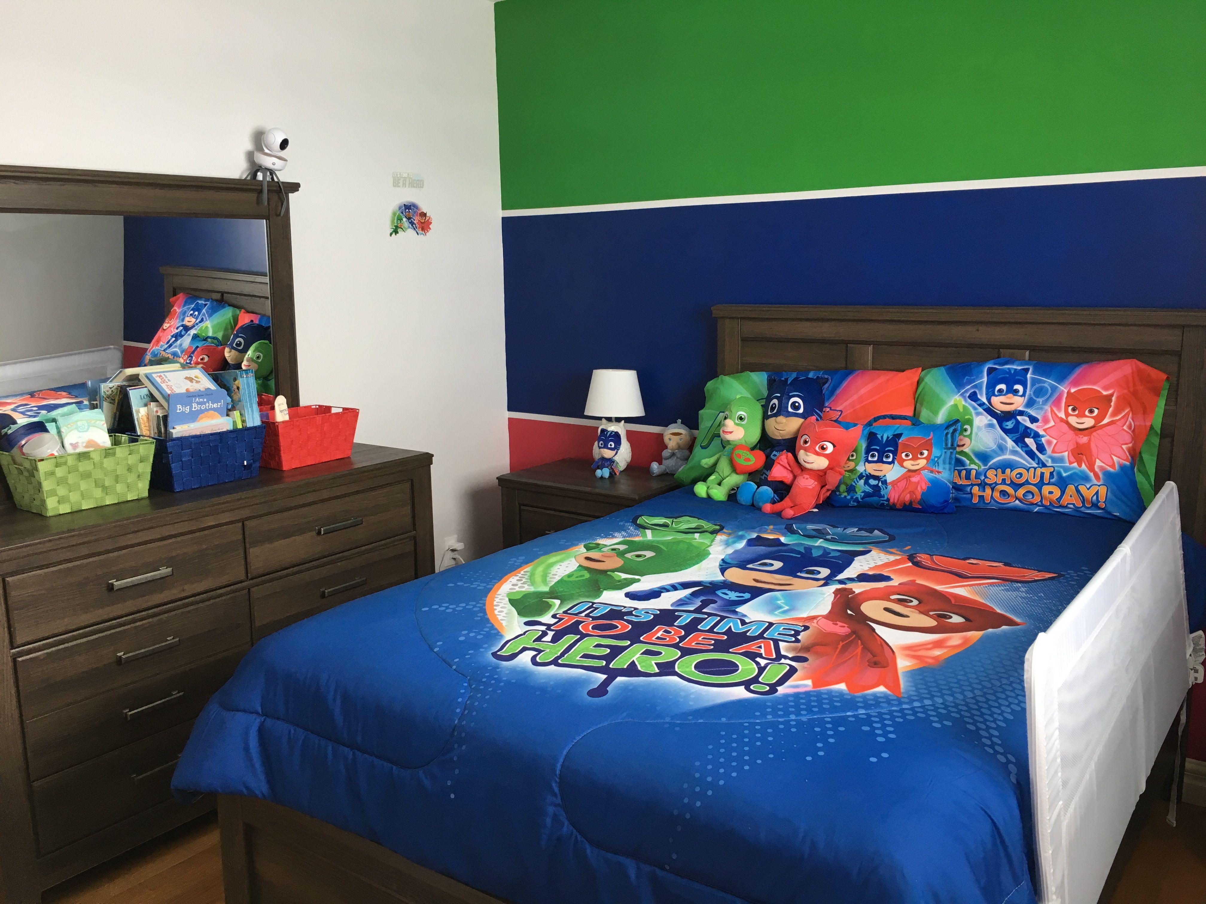 Nathan's PJ Masks bedroom #pjmasks #catboy #gecko #owlette ...