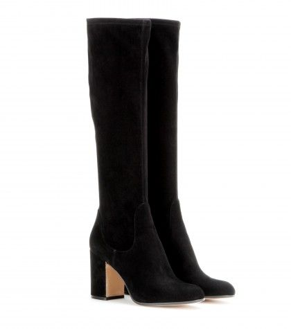 Gianvito Rossi - Suede knee-boots  love love loveee #mytchecklist