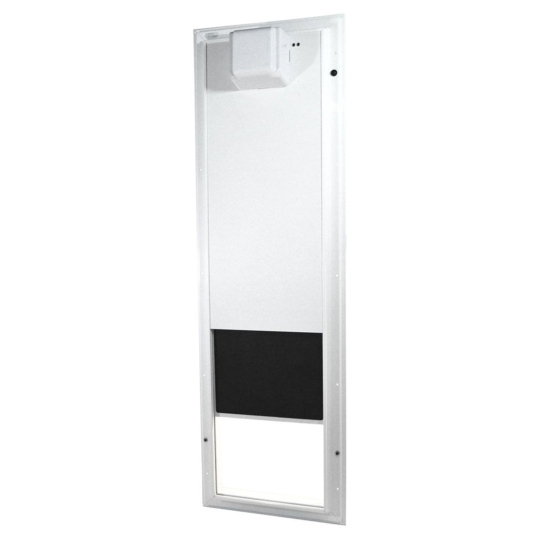 The Plexidor Electronic Motorized Dog Door Automatically Opens In