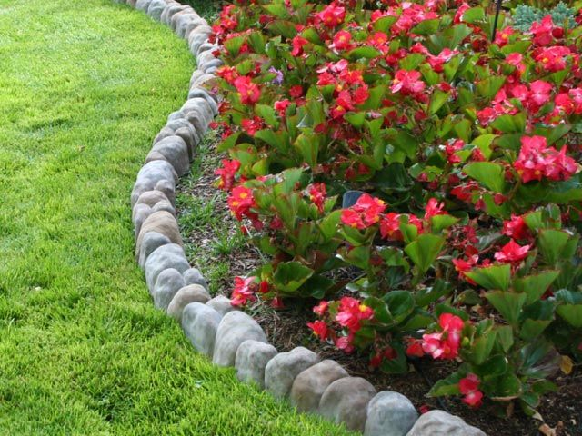 Love the rock border Garden Pinterest Flower Front yards