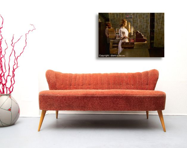 vintage sitzgarnituren 50er cocktail sofa in blassem rot ein designerst ck von silent cube. Black Bedroom Furniture Sets. Home Design Ideas