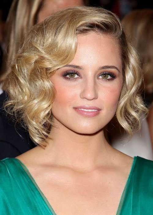 dianna-agron-bob-hairstyle-curled-retro | Best Hairstyles Design - most popular hairstyles
