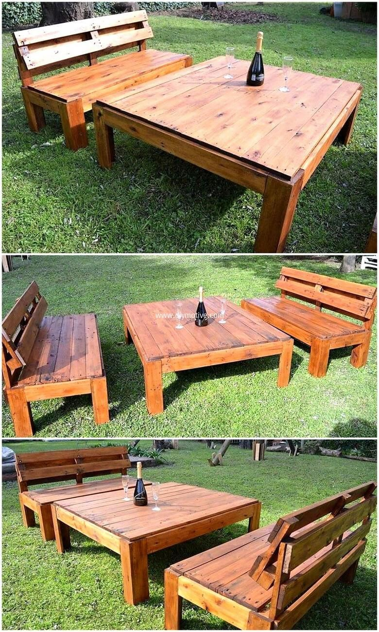 Creative Ideas with Wood Pallets Reusing | Pallet garden furniture ...
