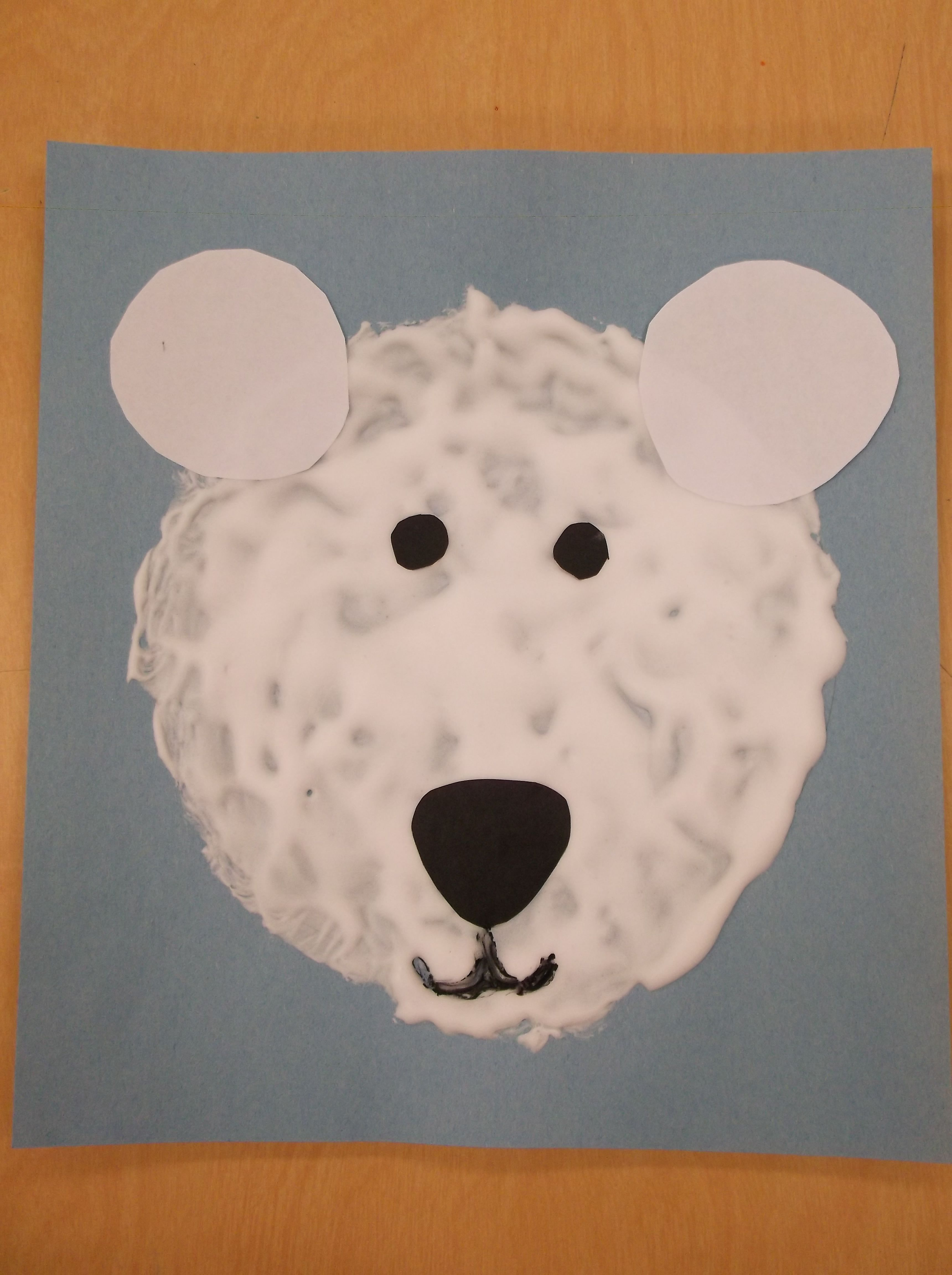 Heather Cr S Snowy Polar Bears Preschool Art Lesson Trace