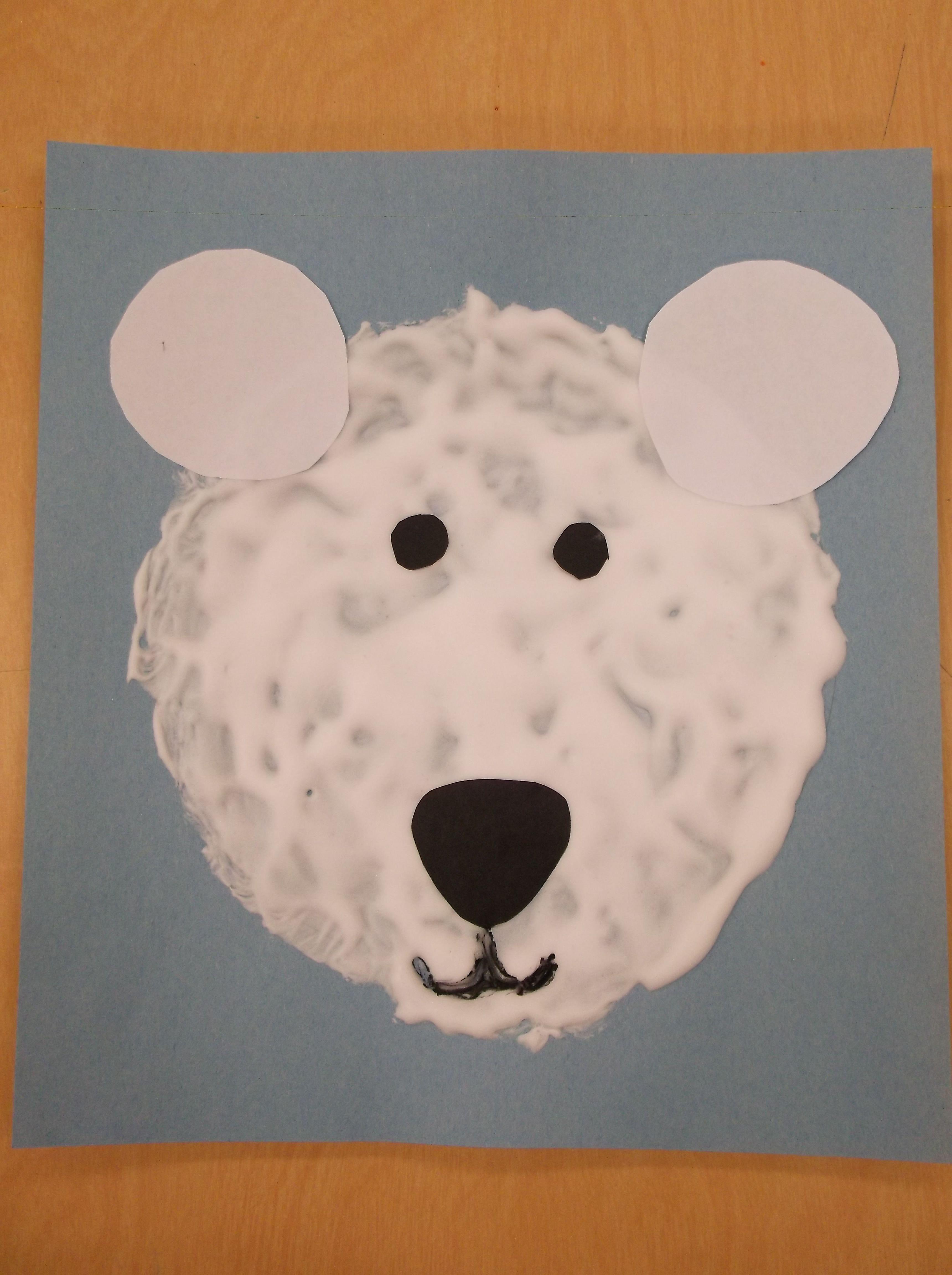 Heather Cr S Snowy Polar Bears Preschool Art Lesson Trace