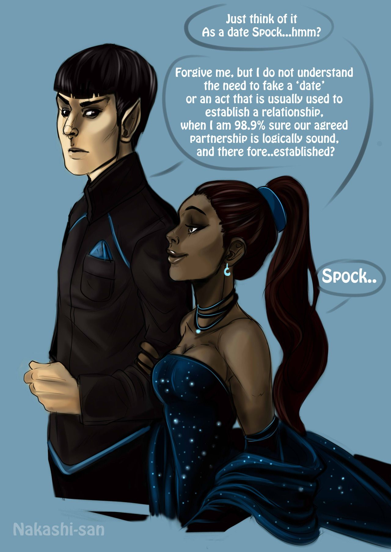 a tumblr blog about   and for the fans of   the Spock and Uhura ...