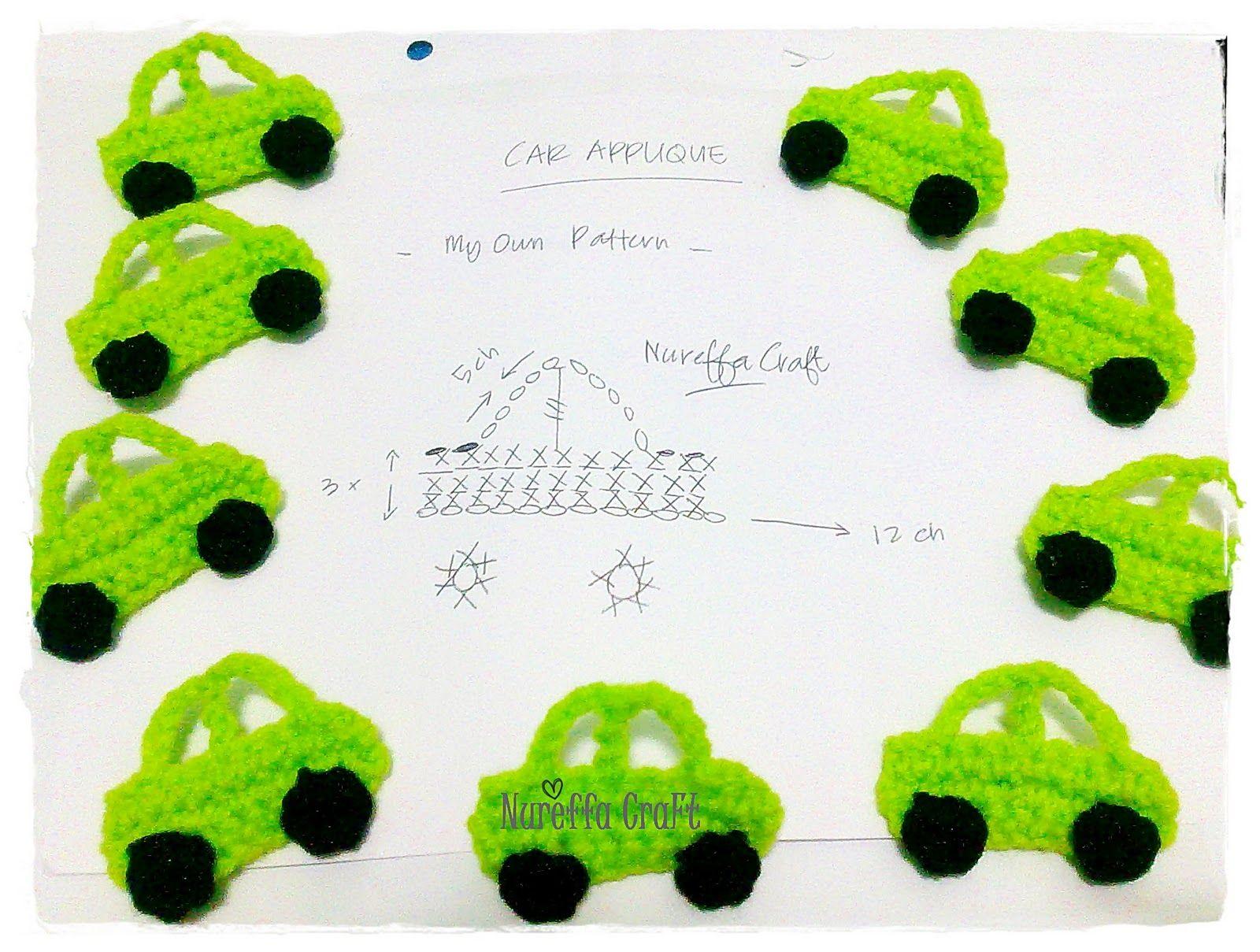 Crochet Free Pattern diagram - Car Applique :: | น่ารัก | Pinterest ...