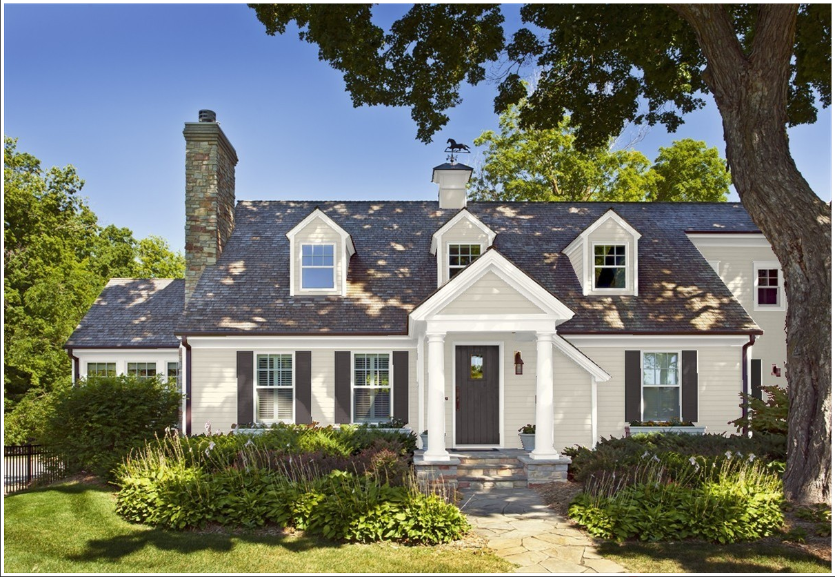 Benjamin Moore Revere Pewter Alabaster Deep Caviar House Paint Color Combination House Paint Exterior Exterior House Paint Color Combinations