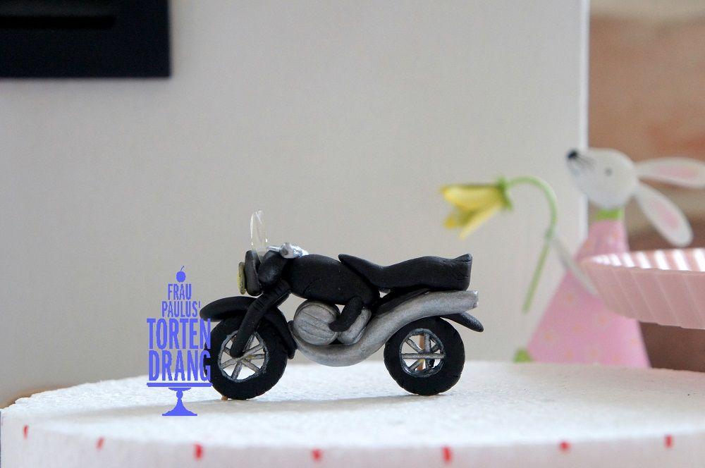 Motorrad aus Modellierfondant  Dekoration in 2019  Pinterest