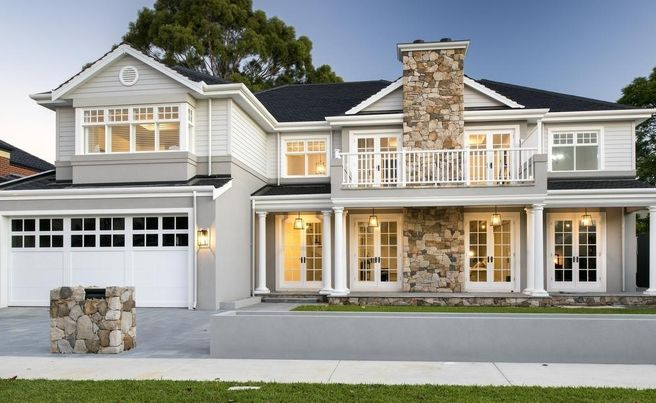 Hamptons Style In South Perth With Stunning Oswald Homes New Build French Windows House