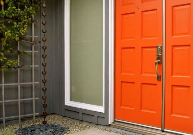 Make your entry doors pop with tangerine.