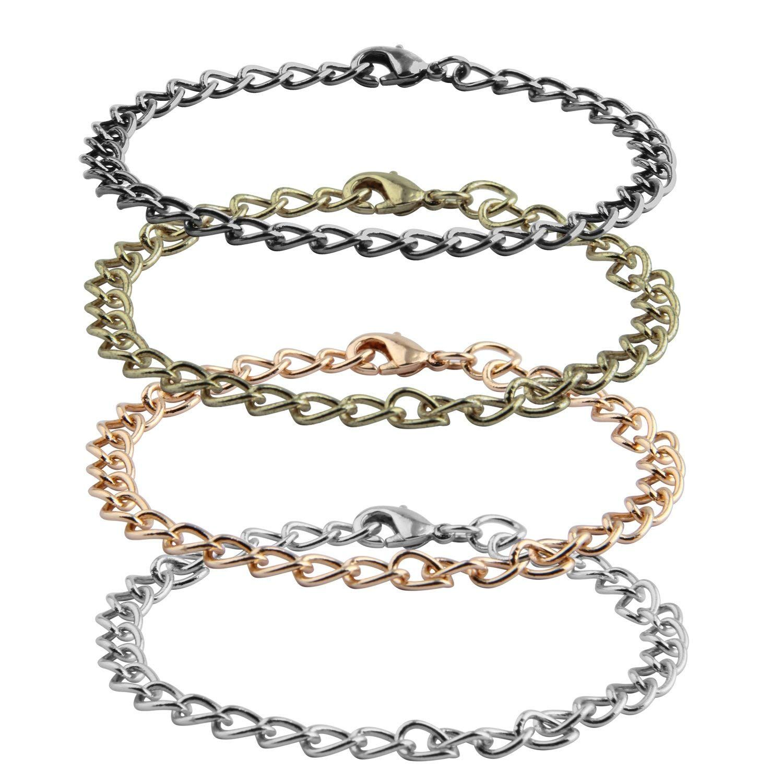 Pcs link chain bracelet for women men diy charm bracelet jewellery
