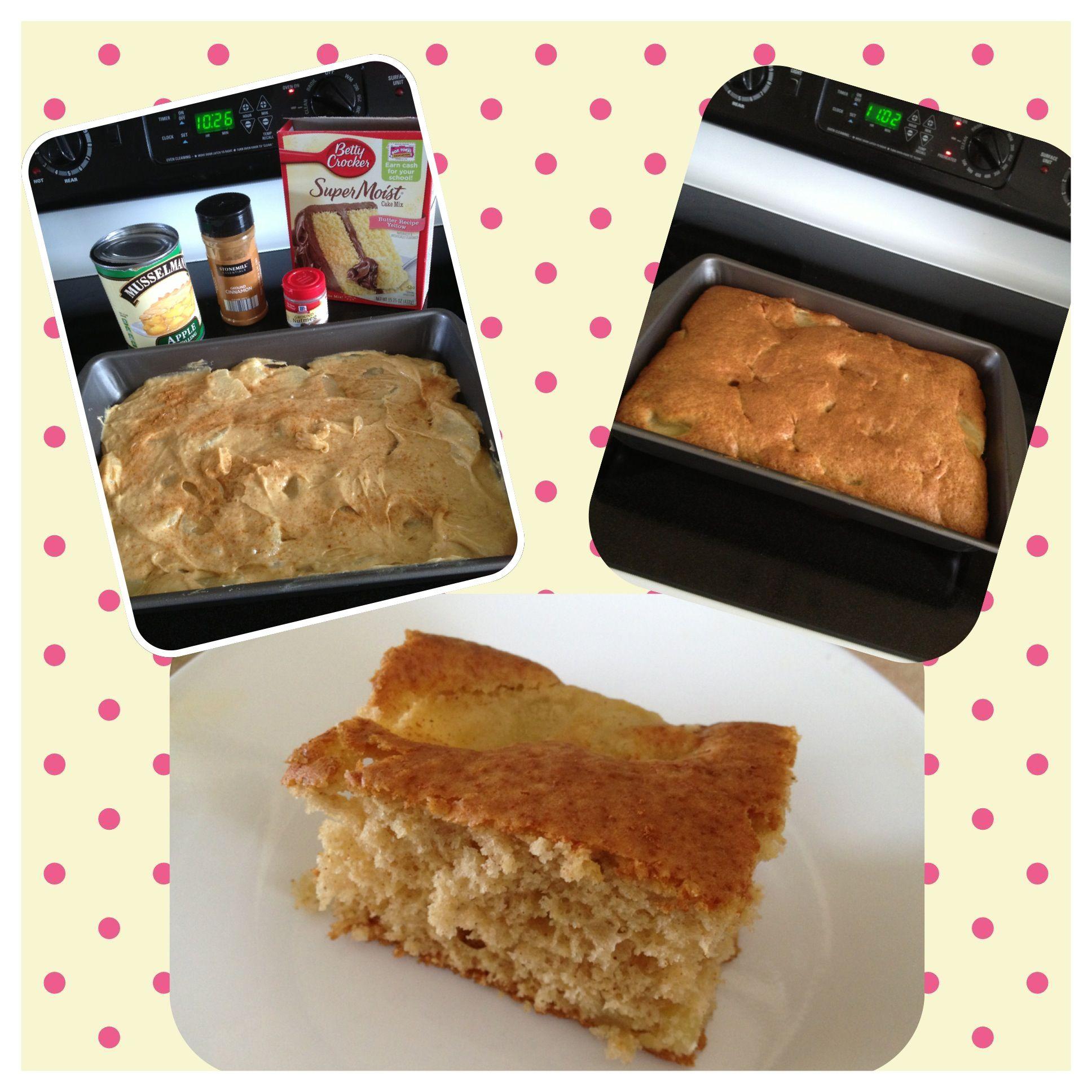 Apple Pie Cake 1 Box Yellow Cake Mix 1 Can Apple Pie