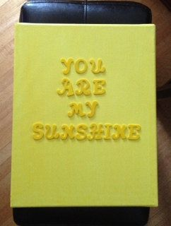 nursery art 11x14 yellow canvas that reads you are my sunshine by tensixeleven,