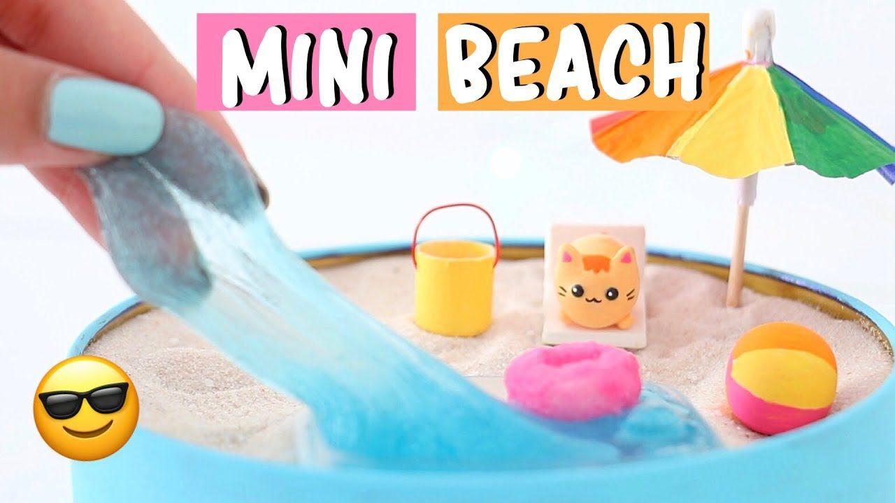 Making 7 Amazing Mini Beach Zen Garden Diy Water Slime Squishies Compilation Youtub Zen Garden Diy Packing List For Vacation Beach Vacation Packing List