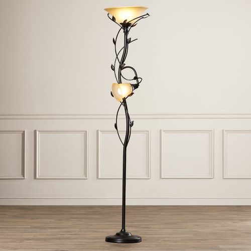 "Found it at Wayfair - Crystal 2 Light 72"" Torchiere Floor Lamp"
