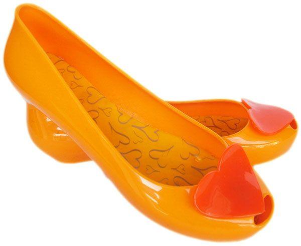Gumowe Balerinki Meliski Serce Koturny Zolty 37 41 5502082013 Oficjalne Archiwum Allegro Shoes