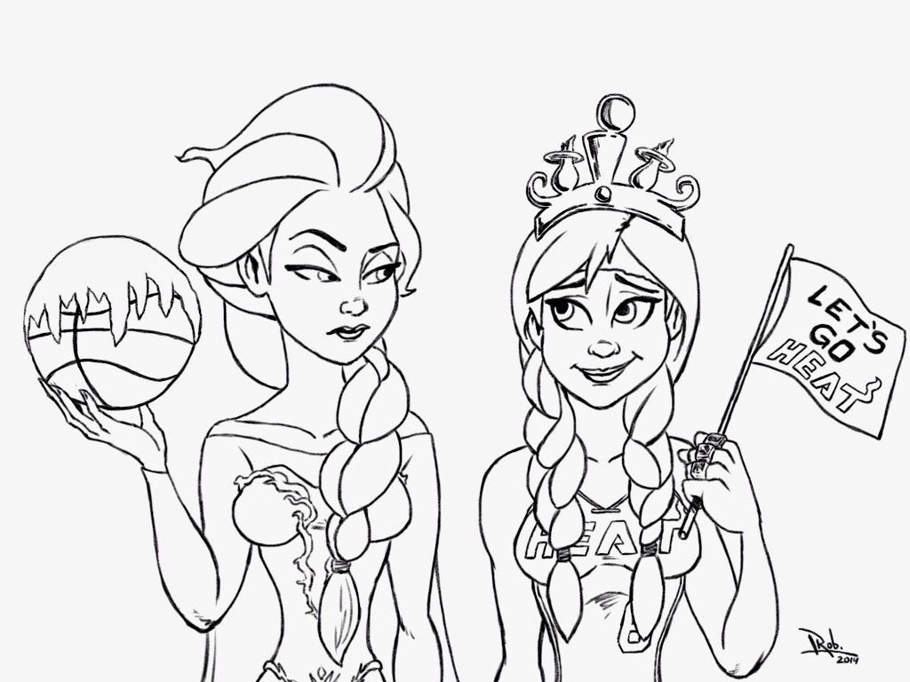 Coloring Pages Anna And Elsa, Printable Coloring Pages