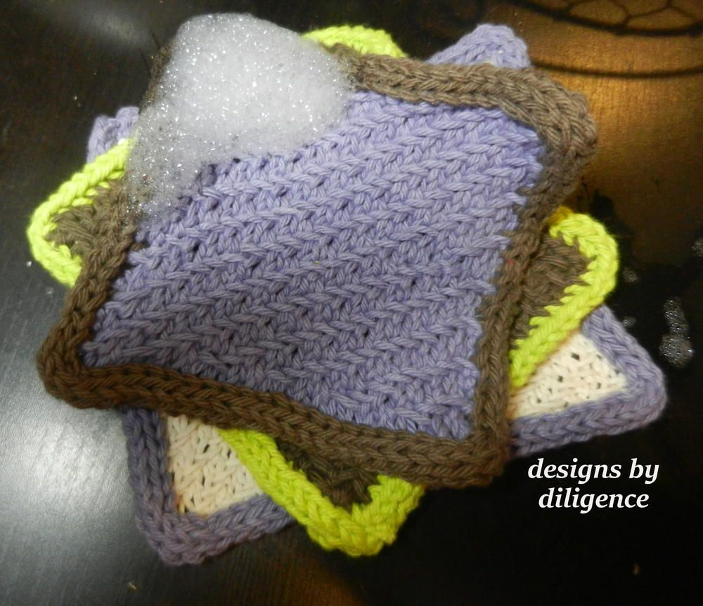 Learner\'s Curve Dishcloth | Dishcloth, Cord and Knit patterns