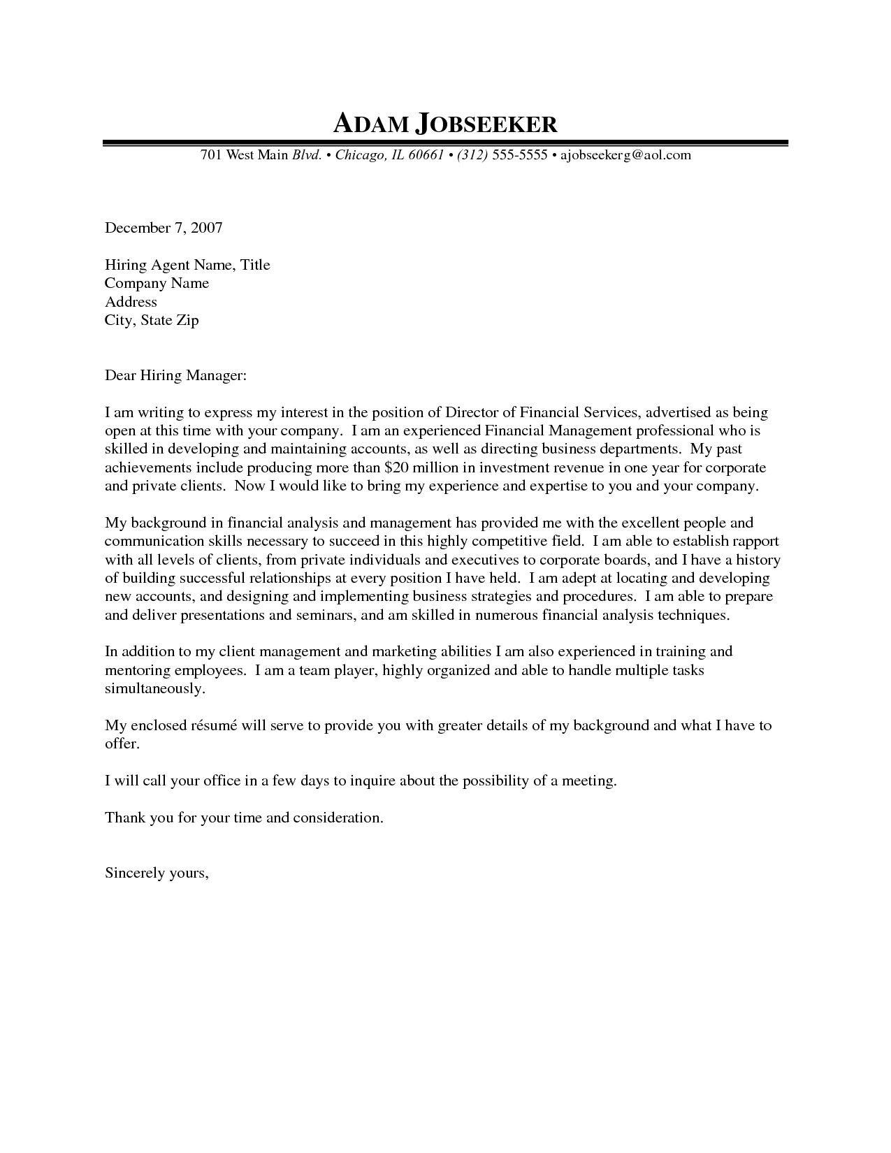 26 Finance Cover Letter  Cover Letter Tips  Report writing skills Application letter sample