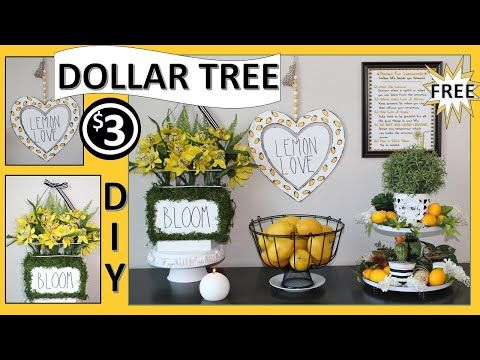 🍋 DOLLAR TREE LEMON DECOR DIYS 🍋 (2019)