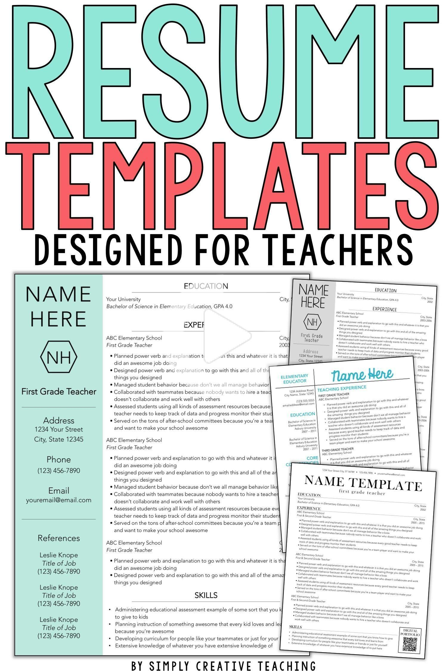 Teacher Resume Tips & Tricks in 2020 Teaching resume