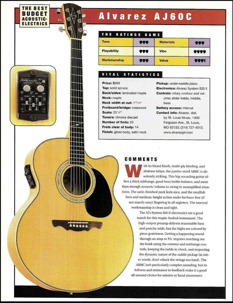 Alvarez Aj60c Acoustic Electric Guitar Review Article With Specs Ratings Alvarez Guitar Reviews Acoustic Electric Acoustic Electric Guitar