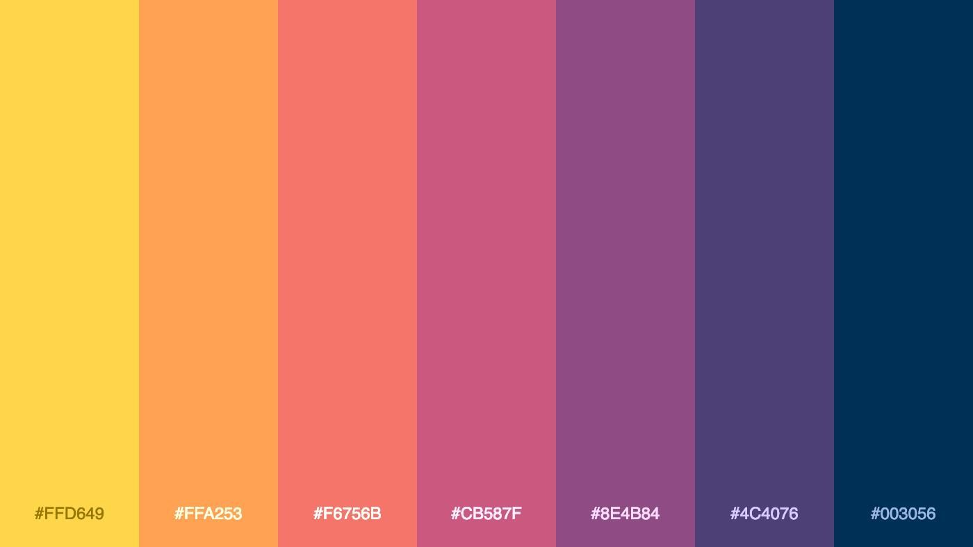 Palitra On Twitter Retro Color Palette Color Palette Colour Pallete