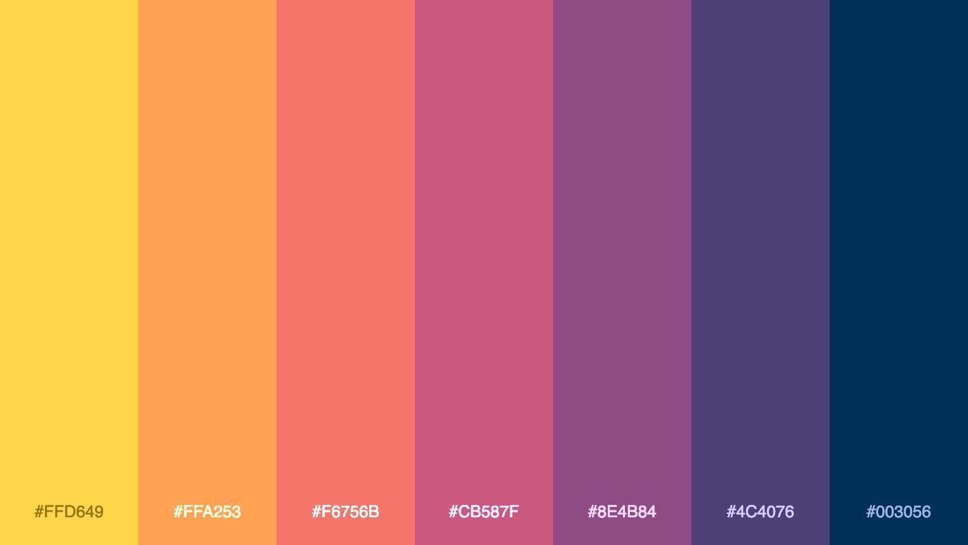 Palitra On Twitter Retro Color Palette Color Palette Colour Pallete
