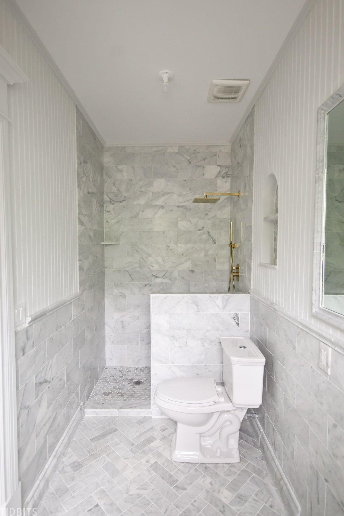 master bathroom marble tile