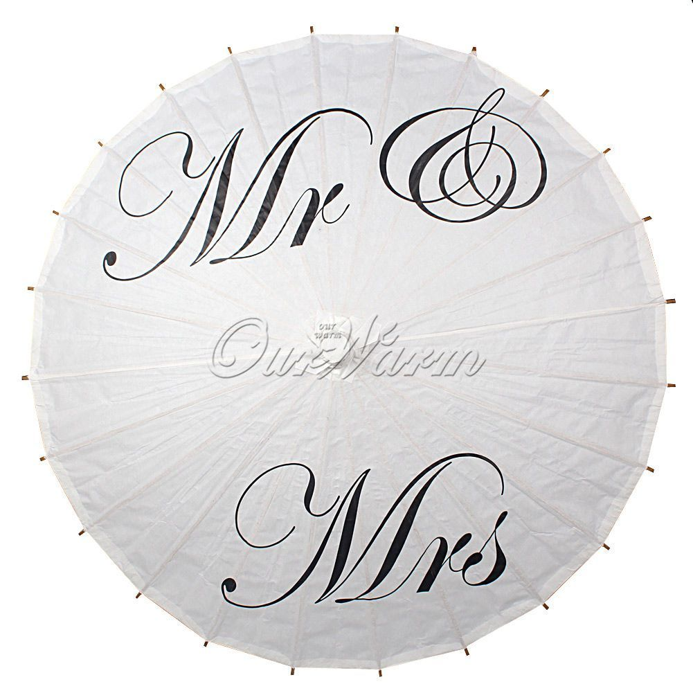 1 X White Bamboo Paper Parasol Umbrella Photography Props Bridal ...