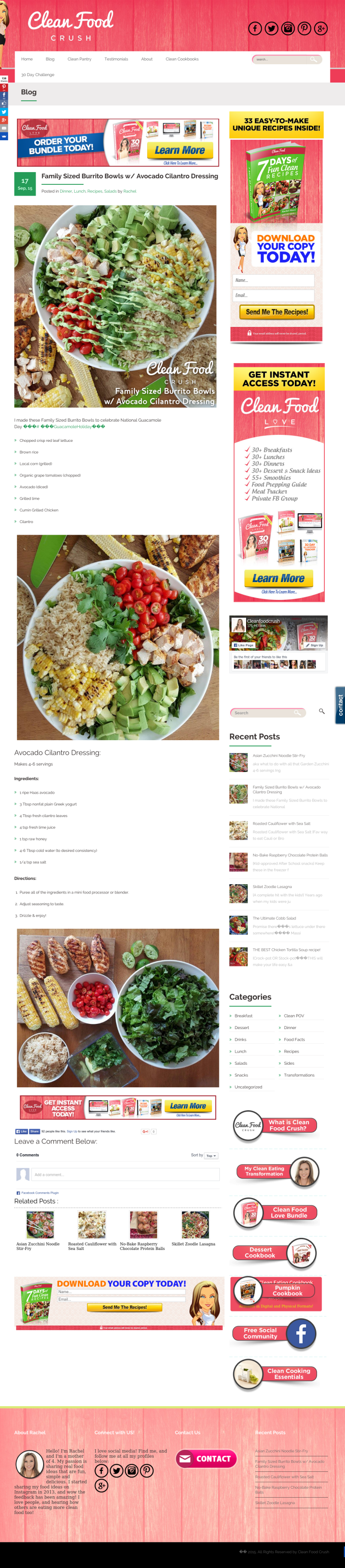 Website'http%3A%2F%2Fcleanfoodcrush.com%2Fburrito-bowls-avo-cilantro-dressing%2F' snapped on Page2images!