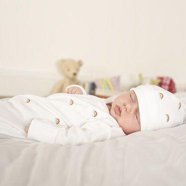 Embroidered Rainbow Baby Sleepsuit | Baby sleepsuit ...