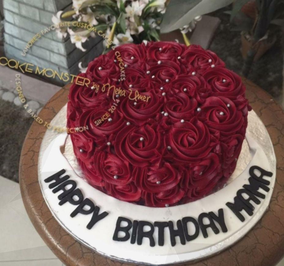 Birthday Cake For Mom Happy Sweet Balloon Red Velvet Birthday