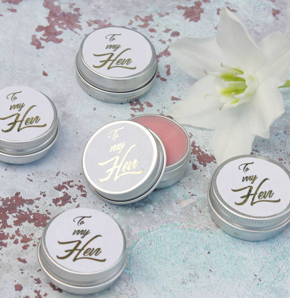 Hen Party Prosecco Lip Balm Favours In White And Gold | Hen party ...