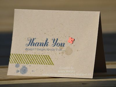 Along Came Stamping: August Open House Make and Take #StampinUp #ThankYou #CAS