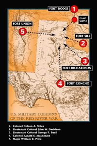US Army Columns Of The Red River War Courtesy Of The Texas - Red river us map
