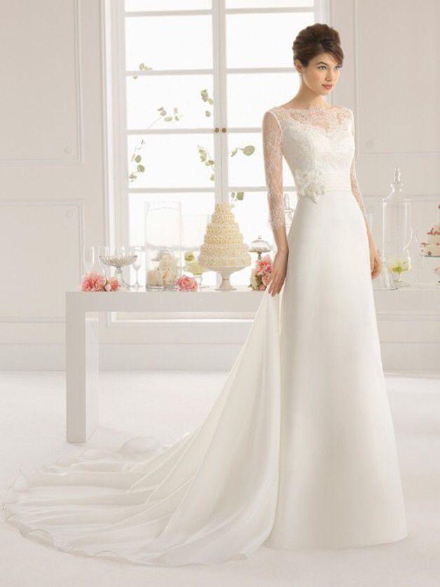 3/4 Sleeves Lace Wedding Dresses | wedding dress | Pinterest ...