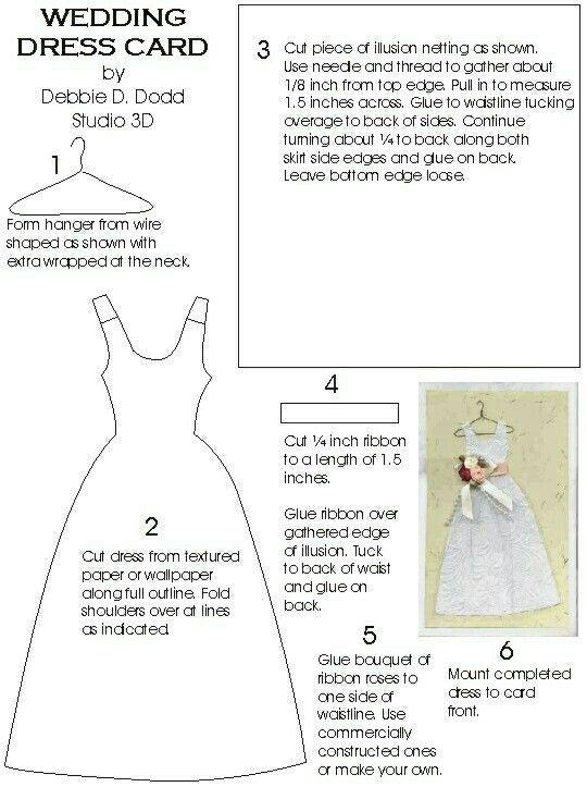 Wedding Dress Template Dress Card Paper Dress Wedding Cards